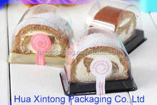 plastic clamshell cute swiss roll cake container