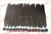 Factory Wholesale High quality cheap hair extension,Pure Unprocessed Raw 5A Grade Indian remy virgin hair, Cuticle human hair