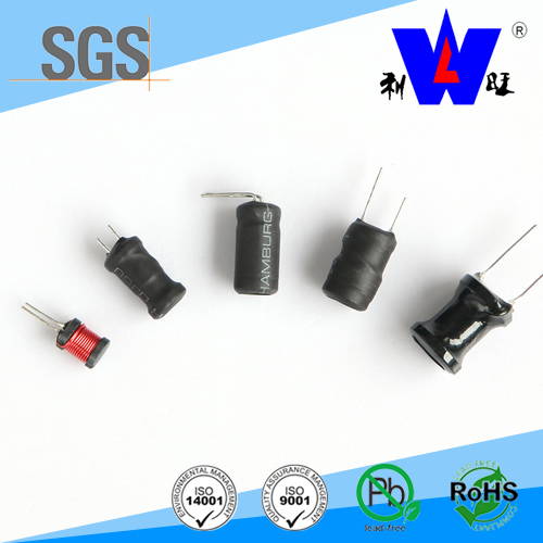 0406/0608/0810/0912 size radial wire wound choke coil inductor 100uH for PCB with ROHS(LGB)