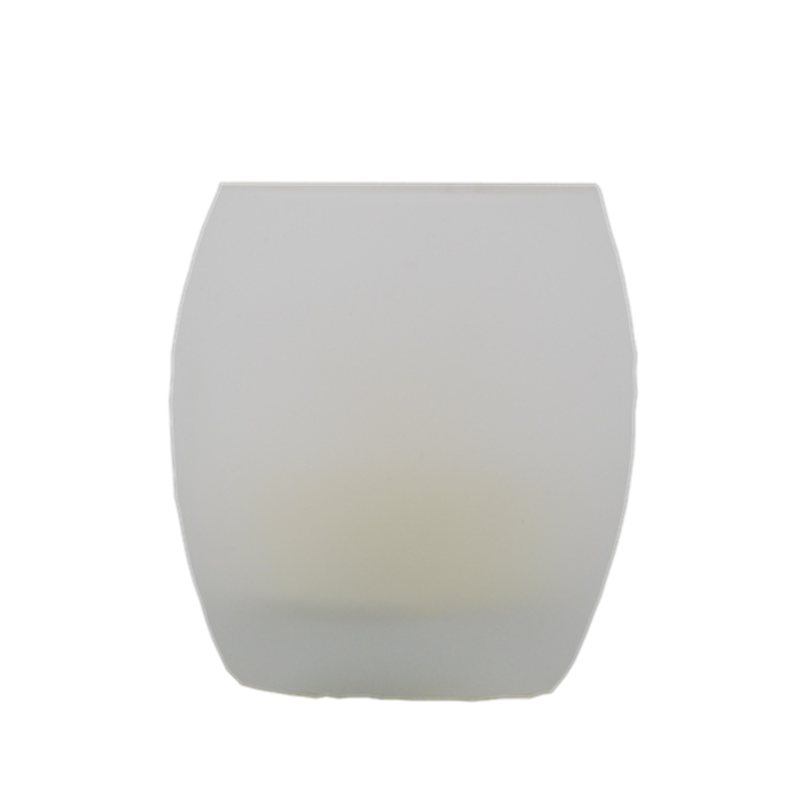 Matti's home decor <strong>battery</strong> operated frosted egg glass candle holder with 55mm tealight inside made in china