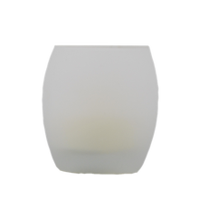 Matti's home decor battery operated frosted egg glass candle holder with 55mm tealight inside made in china