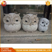 Granite Stone Animal Mini Carving Outdoor Or Indoor Decorative Owl Statues For Sale