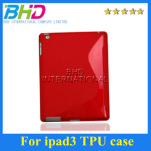 S Line Premium Soft Rubber silicone Gel Case Cover For iPad 3