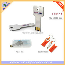 High Quality 8G Key Shape USB Flash Drive With Magnet Plastic Box