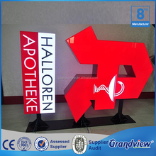 Illuminated acrylic/resin front 3D led channel letter
