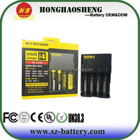 Original Nitecore i4 Charger for 18650 16340 26650 10440 AA AAA 14500 Battery Charger, nitecore i4 Multifunctional charger