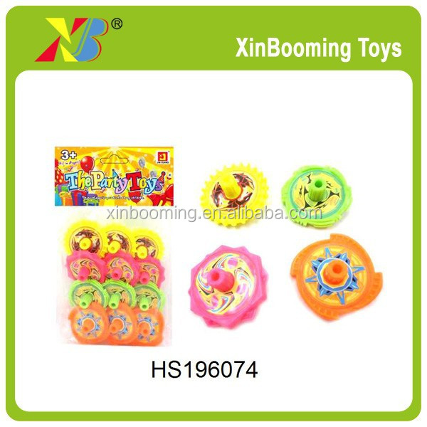 Cheap plastic spinning top promotional peg top