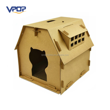 Japanese Style Outdoor Outside Corrugated Cat House out of Cardboard