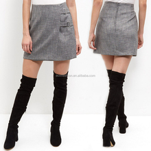 Fashion clothing latest one piece model mature women short skirt