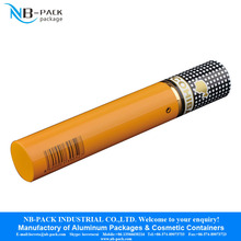 Colored metal aluminum packaging tube with screw cap for cigarette holder packaging cigar tube storage