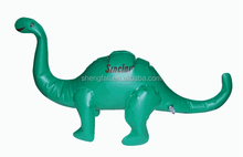 Green giant plastic inflatable air dinosaur model with logo