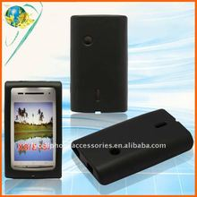 For Sony-Ericsson X8 E15i black silicone covers