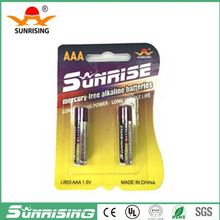 Lr03 size aaa am4/um-4 alkaline battery 1.5v no.7 alkaline battery