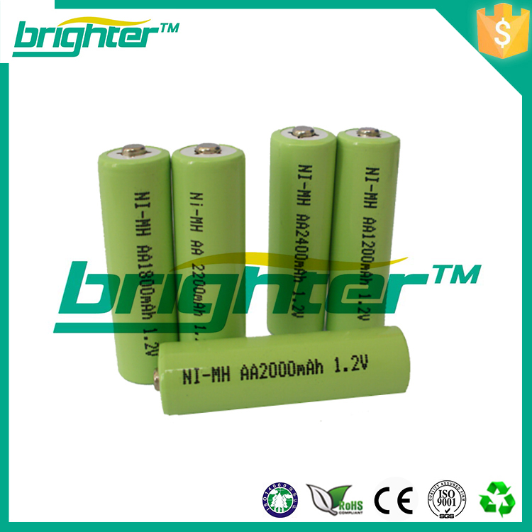 Manufacturer with CE,ROHS,UL certificates nimh aa 600mah 1.2v battery