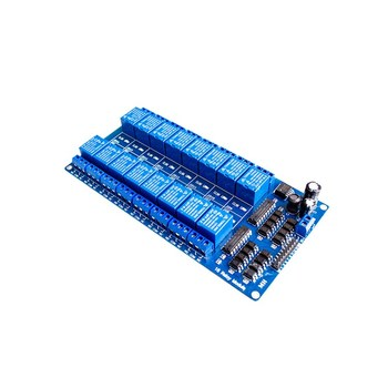 Smart Electronics 16 channel relay module 5V 12V control board with optocoupler protection with LM2596 power supply