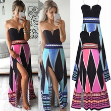 C74620A Fashion Colorful Cotton Straped Braces Women Casual Long Maxi Dress