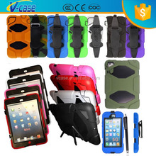 Heavy Duty Builder Military Tough Case Cover Various Phones+ Stylus Belt Clip Case For iPad