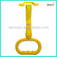 Yellow interior bus subway lifting handle with advertising
