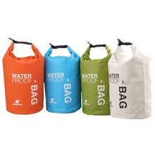 4Colors 5L Ultralight Portable Outdoor Travel Rafting Waterproof Dry Bag Swim Storage Blue/White/Orange/Green Camping Equipment