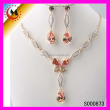 HIGH QUALITY FASHION HOT PINK JEWELRY SETS WEDDING JEWELRY