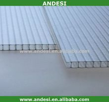 4mm transparent polycarbonate hollow sheets