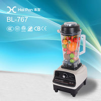 1500W 767 Unbreakable Transparent PC Container 3HP High Quality high speed blender 1500w