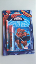 recharge eraser with multi-point pencil with notebook spiderman