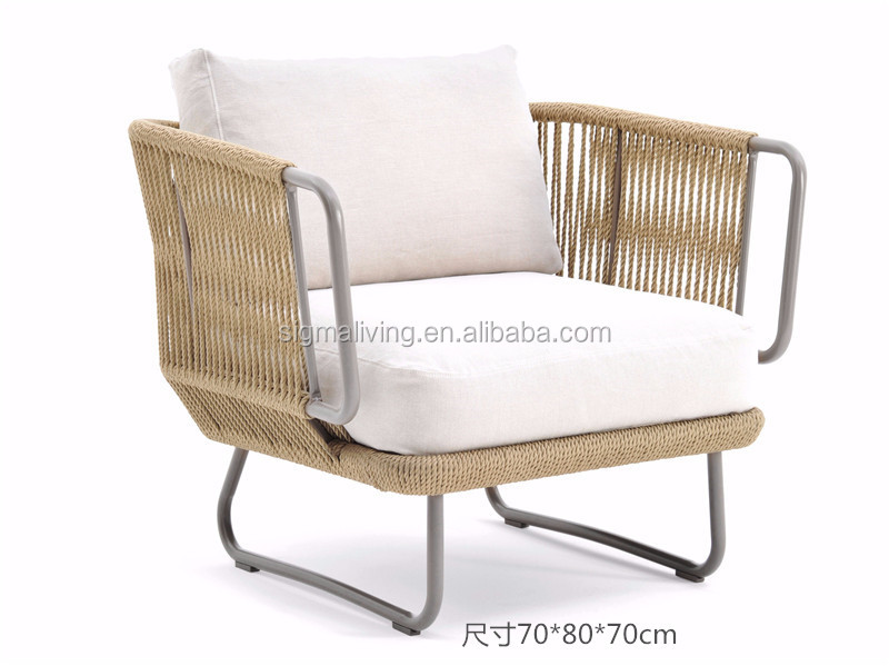 Patio furniture sets hotel patio outdoor garden rope outdoor 3 seater sofa