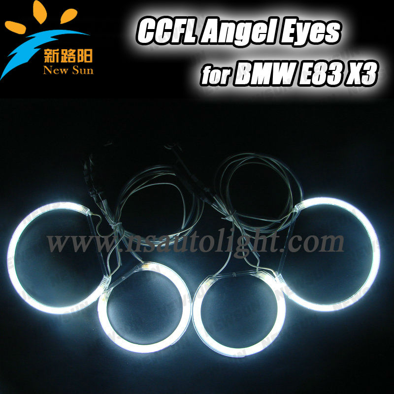 X3 ccfl angel eyes lighting for cars ccfl halo rings angel eyes for bmw e83 wholesale price car headlight auto accessories
