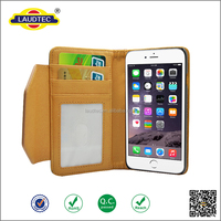 2016 Elegant real leather phone cover flip cover leather case with card pocket for iphone 6s,for iphone 6 case ---Laudtec