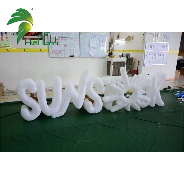 Advertising Promotion Custom Inflatable led Font / Inflatable Word Model Cheap on Sale