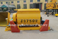 New huigh quality cheap self-loading compulsory twin shaft JS750 28 rpm concrete mixer motor prices for sale.