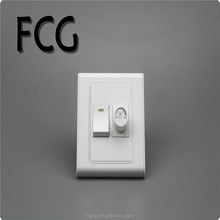 2017 PC 86x86mm, 86x93mm light switch 1gang and dimmer with fan