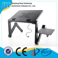 Height adjustable bed table for laptop tablet pc for children