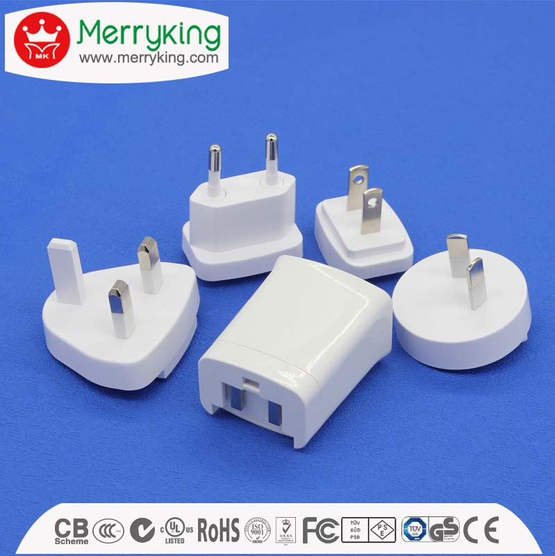 unequal in performance 10W interchangeable plugs adaptor 5V 2A Switching Power AC/DC Adapters