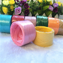 Factory sale cheap paper raffia yarn, paper ribbon roll for packaging
