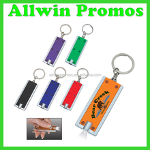 Imprinted Rectangular LED Key Chain