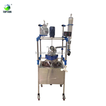 Single Layer Glass Reactor 250L continuous stirred tank reactor