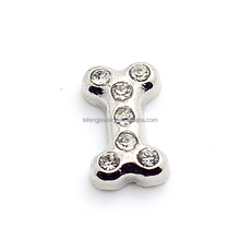 Floating charms locket of dog bone shape,gem jewellery making charms