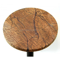 Tropical Brown Marble Center Table, Coffee Tea Table Top