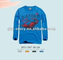 Glo-story plain one color cotton tshirts for printing