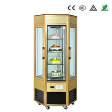 Hot sales mini cake display refrigerator with rotating design OEM GuangZhou manufacturers