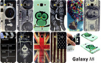 New camera dollars flag printing Flower TPU Case Cover for Samsung Galaxy A8 SM-A800F A8000