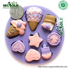 F0209 Nicole cookie shape cake decoration tools silicone molds fondant