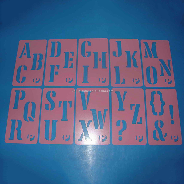 Best price of wholesale plastic stencil , stencils made by plastic