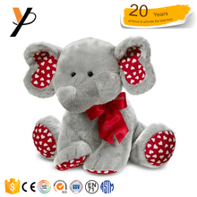 Plush grey elephant with heart printing good stuff toys