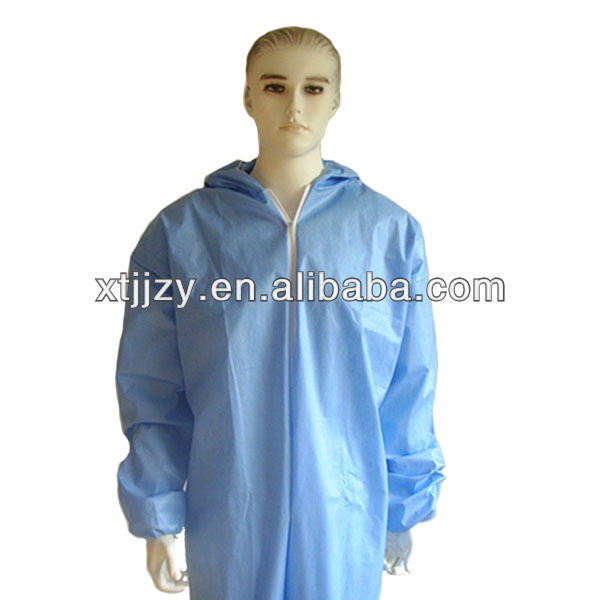 Disposable waterproof insulated coverall