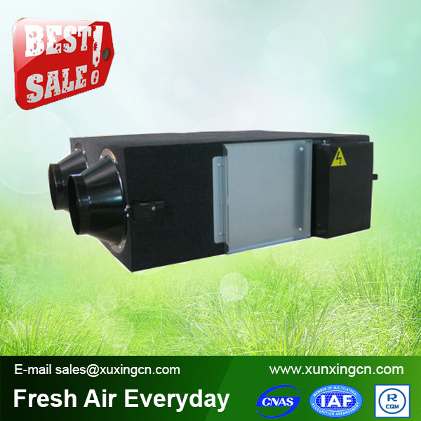 residential air to air heat exchanger heat recovery ventilator for hvac system