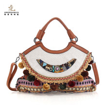 Wholesale Female Hand Made Ethnic Handbag Vintage Style Embroidery Bag from China Cheap Price
