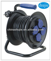 IP44 German sockets Industrial French Cable reel ways Germany cable reel with children protection